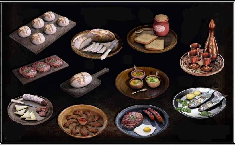 Gorean Foods Class (con't) – list offoods