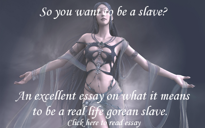 So you want to be a slave