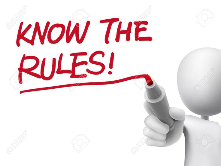33978510-know-the-rules-words-written-by-3d-man-over-transparent-board-Stock-Vector
