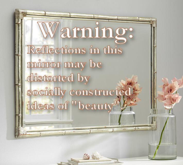 Mirror warning