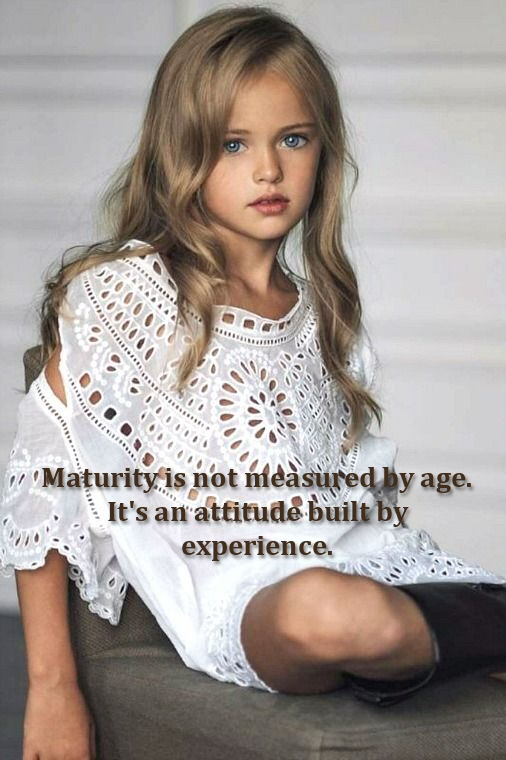 Maturity is not age