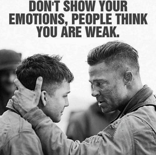 dont show emotion
