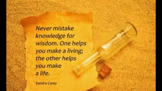 knowledge vs wisdom